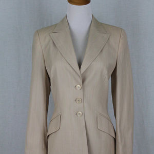 ESCADA Light Beige Lightweight Wool blazer